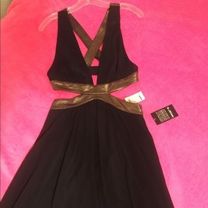 Arden B Black and Gold Formal Dress- NWT